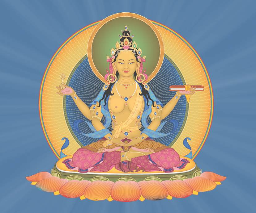 Prajnaparamita, the Buddha of the perfection of wisdom